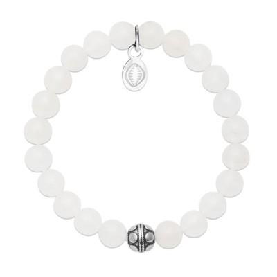 Bracelet pour femme Jade et acier - Shark'n Stones Blanc - Lyn&Or Bijoux
