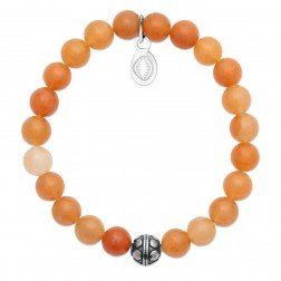 Bracelet pour femme Aventurine et acier - Shark'n Stones Orange - Lyn&Or Bijoux