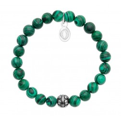 Bracelet pour femme Malachite et acier - Shark'n Stones Vert - Lyn&Or Bijoux