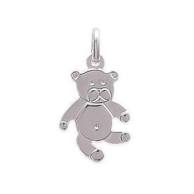 Pendentif collier pour enfant en argent 925, Ourson-Teddybear