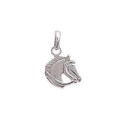 Pendentif enfant en argent - Tête de cheval - Lyn&Or Bijoux