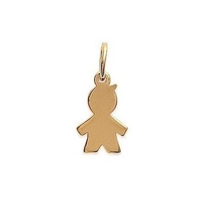 Pendentif en plaqué or jaune collier pour enfant, Garçon