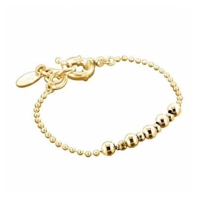 Bracelet gourmette plaqué or pour femme, bijou créateur zoé bijoux