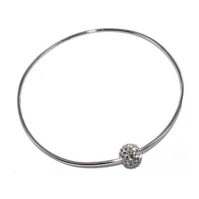 Bracelet jonc en argent et cristal pour femme - Spherya - Lyn&Or Bijoux