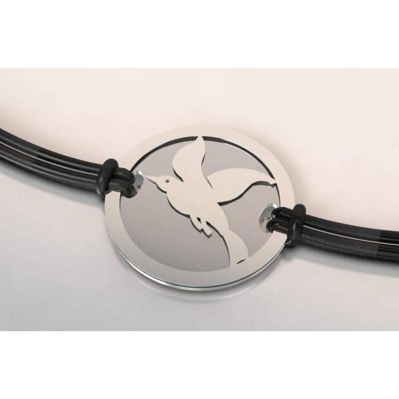 Bracelet oiseau en argent pour femme, bijou créateur