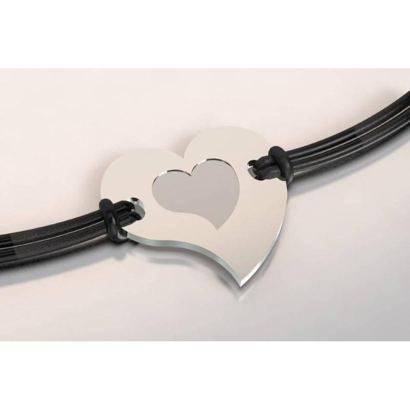 Bracelet coeur original en acier pour femme, bijou de créateur