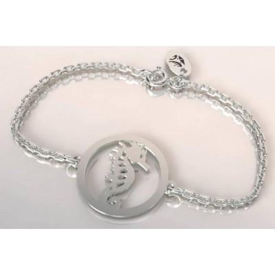 Bracelet de créateur en argent pour femme - Hippocampe - Lyn&Or Bijoux