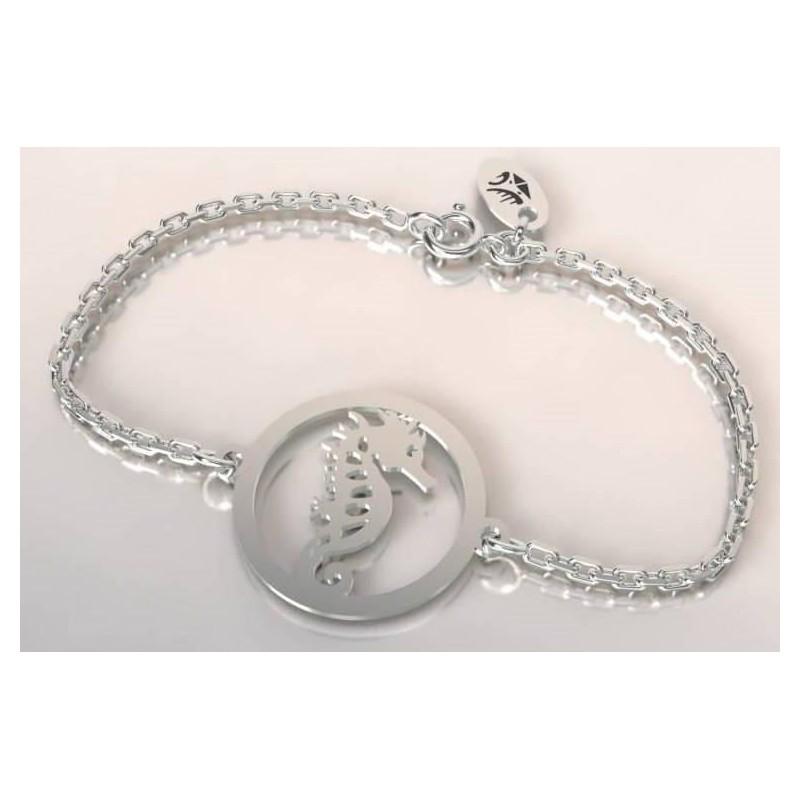 Bracelet hippocampe en argent pour femme, bijou de créateur