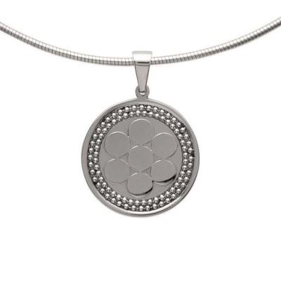 Collier pour femme en acier, pendentif fleur - Santana - Lyn&Or Bijoux