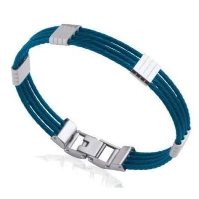 Bracelet jonc pour homme en acier bleu - Costa Rica