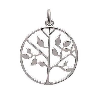Pendentif arbre de vie en argent rhodié pour femme - Signature - Lyn&Or Bijoux