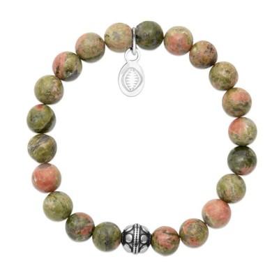 Bracelet pour femme Unakite et acier - Shark'n Stones - Lyn&Or Bijoux