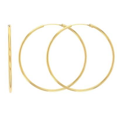Grandes créoles en or 18 carats pour femme 40 mm