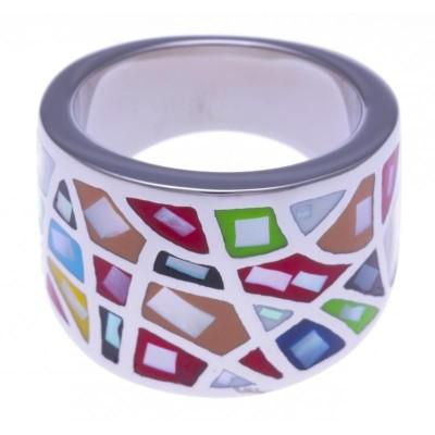 Bague de créateur Odena multicolore pour femme!