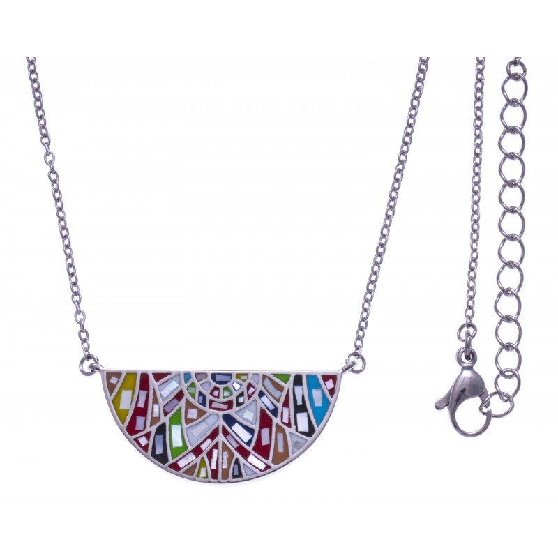 Collier & pendentif de créateur multicolore pour femme, marque odena