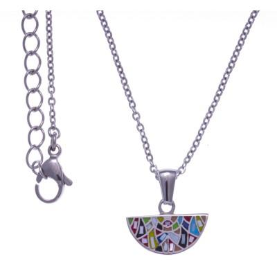 Collier ras-de-cou de créateur multicolore pour femme, marque odena