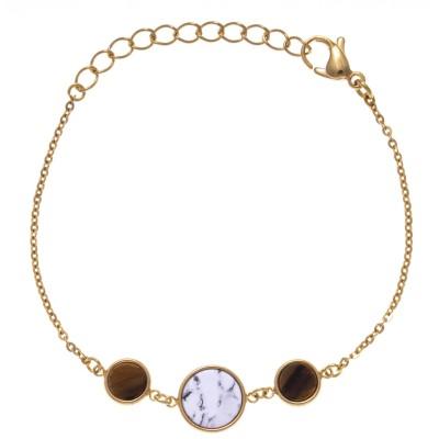 Bracelet pour femme avec pierres naturelles
