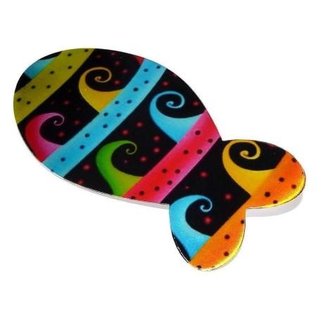 Broche fantaisie multicolore - Poisson