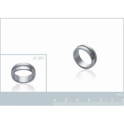 Bague pour homme, anneau en acier gris - Lyn&Or Bijoux