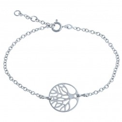 Bracelet Arbre de Vie en argent 925 millièmes rhodié, Mana