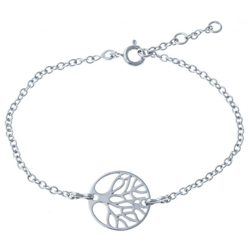 Bracelet Arbre de Vie en argent rhodié pour femme - Mana - Lyn&Or Bijoux