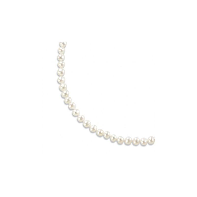 Collier de perles blanches et or jaune 18 carats, L'indémodable