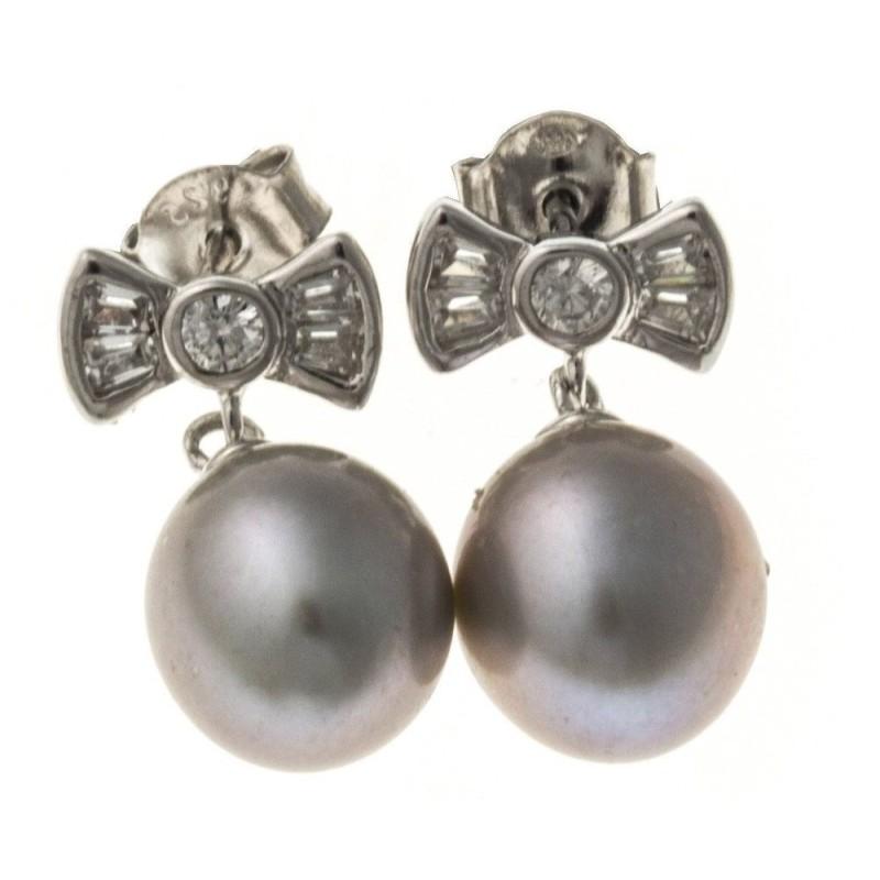 boucle d'oreille perles fantaisie pour femme, Nyma