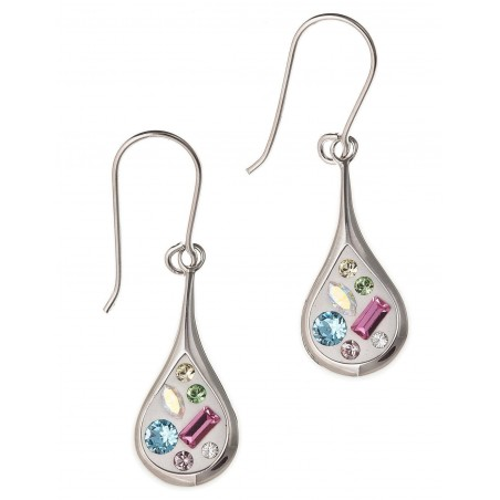 Boucles d'oreilles en argent et cristal - Mija