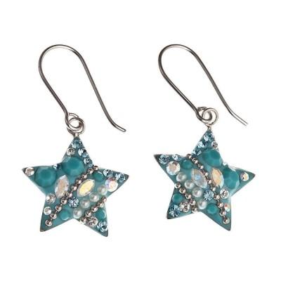 Boucles d'oreilles Swarovski et argent pour femme - Starlet Bleu - Lyn&Or Bijoux