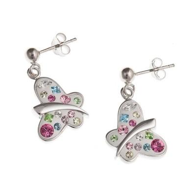Boucles d'oreille Swarovski en argent pour femme - Mirette - Lyn&Or Bijoux