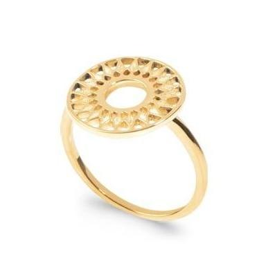Bague pour femme en plaqué or, motif soleil - Dybbi - Lyn&Or Bijoux