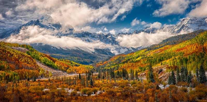 automne dans les montagne du Colorado, USA