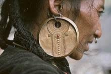 lourdes boucles d'oreilles mongols