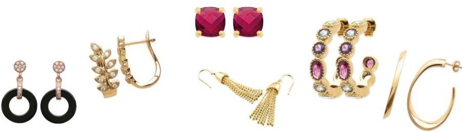 boucles d'oreilles femme en plaqué or
