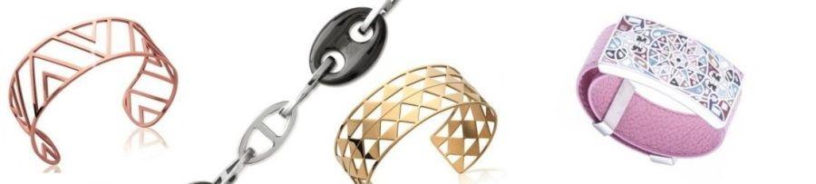 bracelet femme acier, bijoux tendance