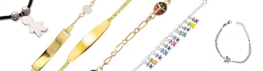 bracelet fille et gourmette garcçon, bijou en ligne