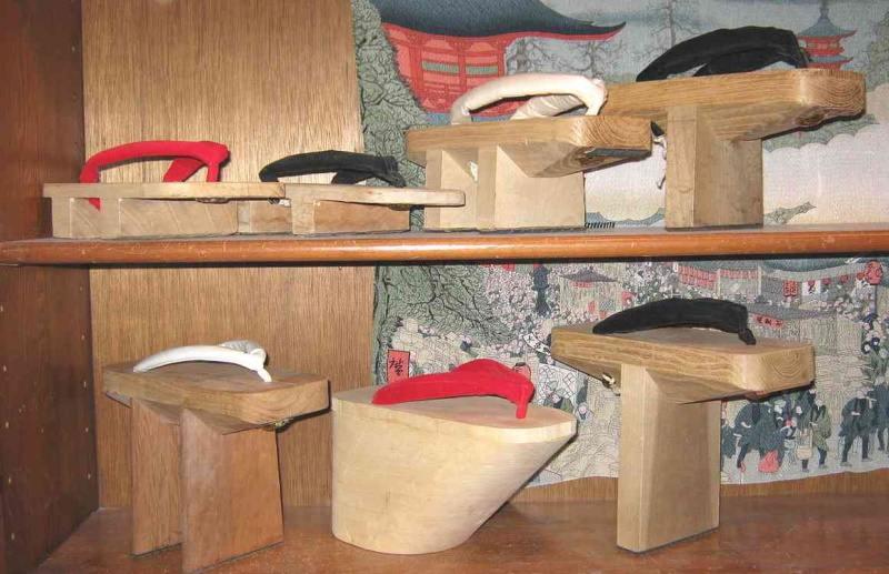 geta chaussures japon en bois