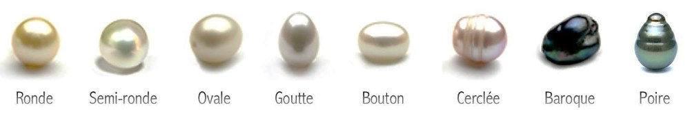 de quelle formes peuvent être les perles naturelles?