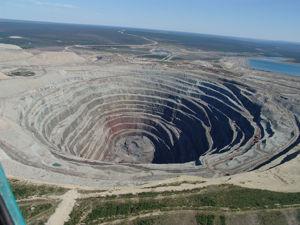 mine de diamant en russie