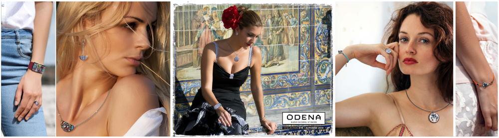 Bijoux odena pour femme, en nacre et émail