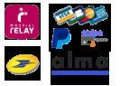 Mondial relay, La poste, Paypal, carte bancaire